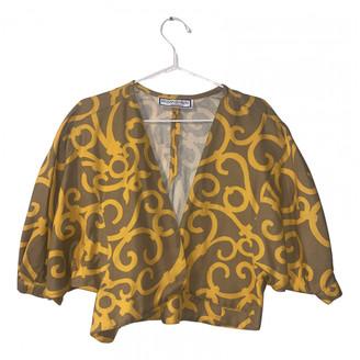 Saint Laurent Yellow Cotton Tops