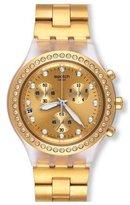 Swatch Women's Tone Steel Bracelet Swiss Quartz Watch Svck4084g