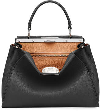 Fendi Peekaboo Medium Leather Satchel Bag