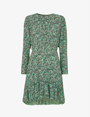 Whistles Heath floral woven mini dress