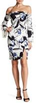 Alexia Admor Off-the-Shoulder Floral Print Sheath Dress