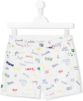 Stella McCartney printed denim shorts - kids - Cotton/Spandex/Elastane - 14 yrs