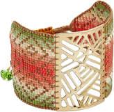 Mishky Bead Embellished Cuff Bracelet