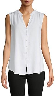 Saks Fifth Avenue High-Low Sleeveless Shirt