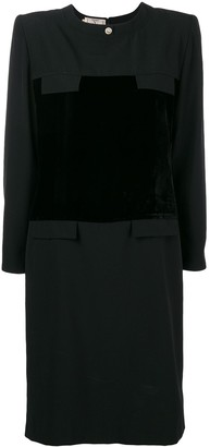 Valentino Pre Owned long-sleeve panelled dress