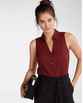 Express No Pocket Sleeveless Portofino Shirt
