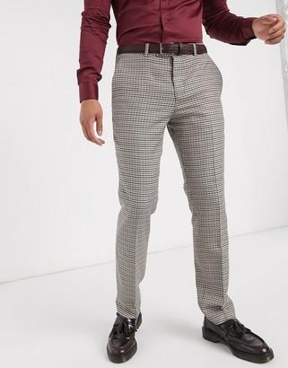 Lockstock Ludlow suit pant in micro brown check