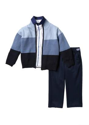 Calvin Klein Ombre Stripe Sweater, Top & Pants 3-Piece Set (Toddler & Little Boys)
