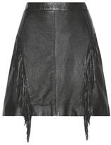 Leather Fringe Skirt - ShopStyle
