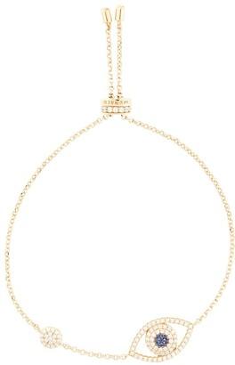 APM Monaco Evil Eye crystal bracelet