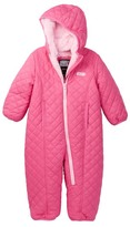 Weatherproof Reversible Quilted Faux Fur Pongee (Baby Girls)