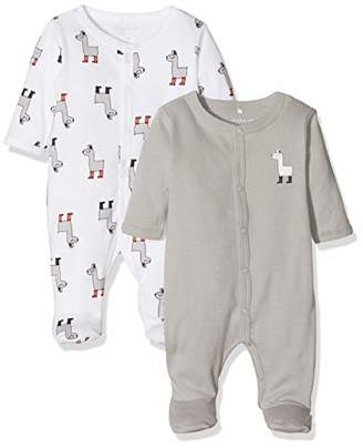 Name It Baby Nbnnightsuit 2p W/f Bright White Noos Sleepsuit, Multicolour (Weiß), (Size: 56)