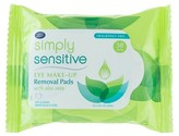 Boots Simply Sensitive Aloe Vera Eye Makeup Removal Pads - 30 count