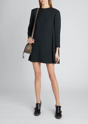 Chloé Crepe Mini Cape-Back Dress