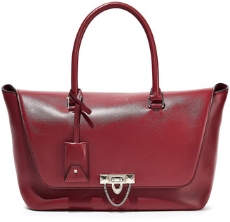 Valentino Demilune Studded Leather Tote