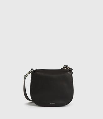 AllSaints Kim Small Round Leather Crossbody Bag