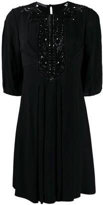 Alberta Ferretti Bead-Embellished Dress