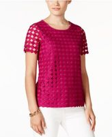 Charter Club Petite Eyelet-Lace Top, Only at Macy's