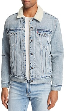 Levi's Faux Shearling Lined Denim Trucker Jacket