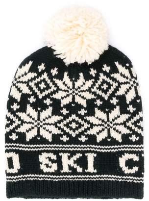 Ralph Lauren Kids TEEN geometric pattern beanie hat