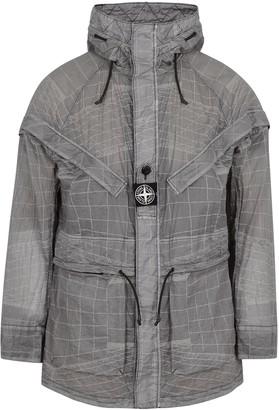 Stone Island 42999 Reflective Grid-print Nylon Jacket
