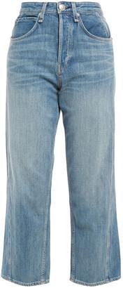 Rag & Bone Maya Faded High-rise Straight-leg Jeans