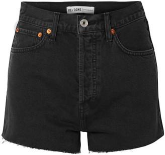 RE/DONE Frayed Denim Shorts