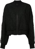 Vera Wang sheer back lace bomber jacket - women - Silk/Nylon - 6