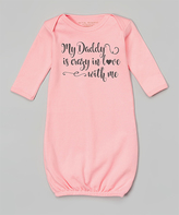 Pink 'Crazy In Love' Personalized Gown - Infant