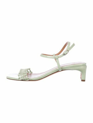 LOQ Patent Leather Cutout Accent Sandals Green