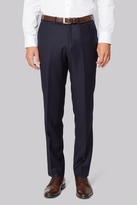 Hardy Amies Tailored Fit Navy Clear Cut Trouser