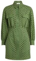 Sandro Paris Broderie Anglaise Shirt Dress