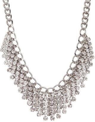 Rebecca Minkoff Rhinestone Chain Fringe Necklace