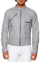 Dolce & Gabbana Lamb Leather Biker Jacket, Gray