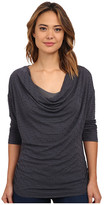Miraclebody Jeans Dara Drape Neck Top w/ Body-Shaping Inner Shell