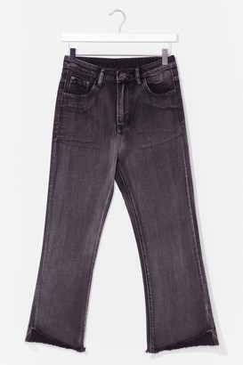 Nasty Gal Womens Without a Flare Cropped Jeans - Black - 6