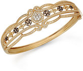 Effy Espresso by Brown and White Diamond Bangle in 14k Gold (2 ct. t.w.)