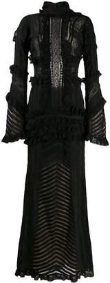 Amen ruffle trim gown