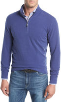 Peter Millar Melange Fleece Quarter-Zip Sweater