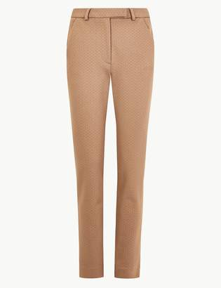 Marks and Spencer Mia Ponte Polka Dot Ankle Grazer Trousers