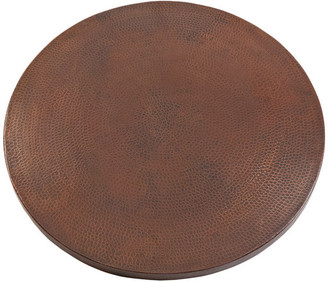 """Premier Copper Products 24"""" Round Hammered Copper Table Top"""
