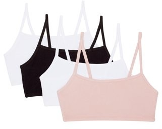Fruit of the Loom Womens Strappy Sports Bra, 4-Pack style 9036