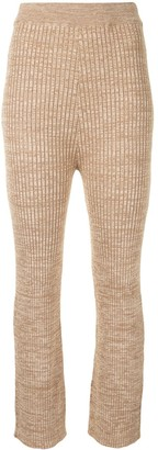 ANNA QUAN Liza ribbed knit trousers