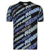 Kenzo Diagonal Logo Stripe T Shirt