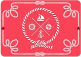 The Softer Side by Weather GuardTM Nautical Icons Kitchen Mat in Coral