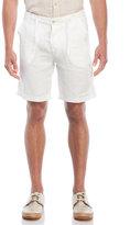 benson White Drawstring Linen Shorts