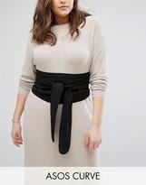 Asos Black Fabric Obi Belt