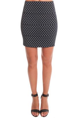 Pleasure Doing Business Pleasure Doing Buisness Stars Banded Mini Skirt