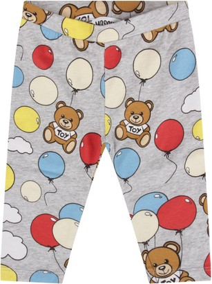 Moschino Grey Leggings For Baby Boy With Teddy Bears And Baloons