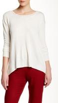Ella Moss Long Sleeve Crochet Detail Sweater